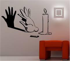... Bunny Hand Candle Cute Wallpaper Home Decorative Funny Looking Creative Wall  Art Stickers Design Unique Lighthing ...