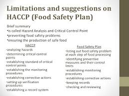 how to execute effective food safety control mechanism hkbu public consumer council 9 limitations and suggestions on haccp food safety