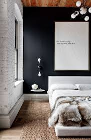 urban bedroom furniture. urban bedroom with white brick wall navy wood ceiling natural fiber rug furniture e