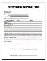 Performance Appraisal Form Word Excel Pdf Templates Www