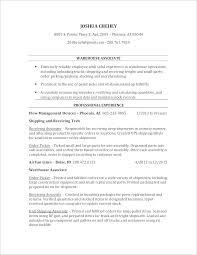 Warehouse Clerk Resume Fascinating Warehouse Worker Resume Template Job Hero Newest Template Example