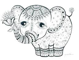 Cute Baby Elephant Coloring Pages Elephant Adult Coloring Page