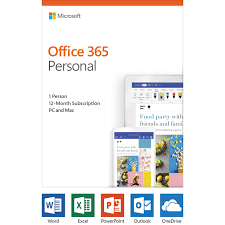 Offi 365 Microsoft Office 365 Personal 1 User License 12 Month Subscription Product Key Code