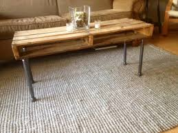 diy pallet iron pipe. Recycled Pallet And Iron Pipe Coffee Table Diy