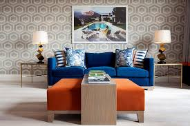 modern table lamps for living room. wallpaper and table lamps add geo style [design: malcolm duffin interior design] modern for living room