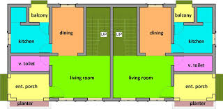 Great Residential Building Designs Two Bedroom Semi Detached One Storey
