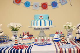 Cool Birthday Party Table Decoration Ideas With Sailor Table Decorations:  Amazing First Birthday Party Decoration
