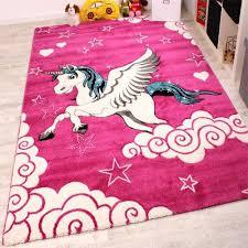 pink unicorn rug kids bedroom carpet children playroom nursery mat for baby girl 80x150cm for