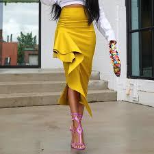 <b>Summer Yellow</b> African <b>Elegant Party Elegant</b> Beach Skirts Womens ...