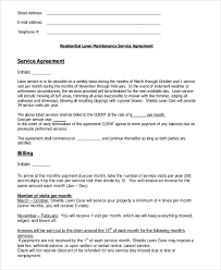 Service Contract Interesting 44 Sample Residential Service Contracts Sample Templates