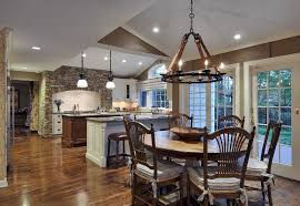 dining room rustic kitchen with stone tile showcase kitchens zillow digs pertaining to brilliant property chandelier