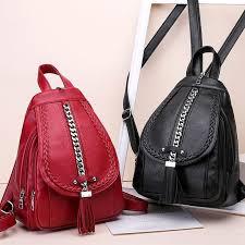 Female <b>Backpack Designer High Quality</b> Leather Women Bag ...