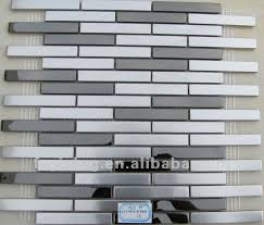 office wall tiles. Office Wall Mosaic Tile-100*10mm Silver Strip Stainless Steel MI12 Tiles G