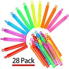 Punertoy 28 Pack Mini Bubble Wand Set(7 Colour ... - Amazon.com