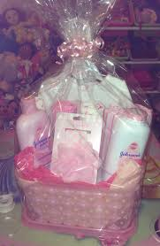 Gift Basket Wrapping Ideas Diy Baby Shower Gift Basket For A Girl Diy Ideas Pinterest