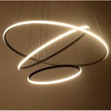 Circular Light Led Hot Item Modern Circular Led Chandelier Adjustable Hanging Light Three Ring Collection Contemporary Ceiling Pendant Light
