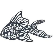 fish laser cut metal wall art 63cm on die cut metal wall art with fish laser cut metal wall art 63cm silhouette laser die cuts