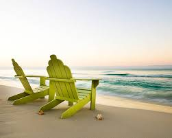 adirondack chairs on beach. Adirondack Chairs On Beach Stock Photo R