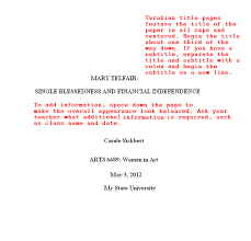 Turabian Cover Page Title Page Examples And Formats Homeschooling