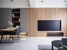 images interior design tv. pice vivre minimaliste choc noire et bois images interior design tv