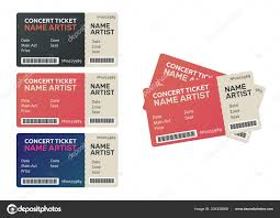 Blank Concert Ticket Template Blank Concert Performance Tickets Music Dance Live Concert Tickets