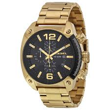 diesel overflow black dial gold stainless steel men s quartz watch diesel overflow black dial gold stainless steel men s quartz watch dz4342