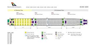 Airbus A340 500 Seating Chart Airplane Pics South African Airways A340 600 Seating Plan