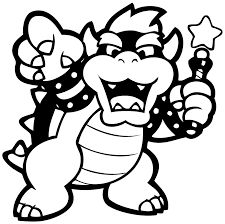 Small Picture Bowser Coloring Pages Mlarbilder Pinterest Bowser