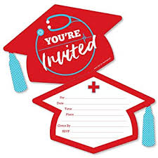 Nursing Graduation Party Invitations Amazon Com Nurse Graduation Shaped Fill In Invitations