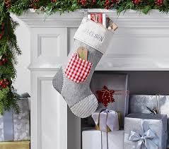 gray christmas stockings. Interesting Stockings Gray Linen Patchwork Stocking Intended Christmas Stockings I