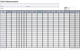 Body Measurement Template Online Charts Collection