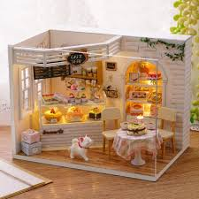 dollhouse miniature furniture.  Dollhouse DIY Dollhouse Miniature Furniture Mystical Cat Diary Of Cake Bakery House  Kit On C