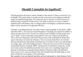 should cannabis be legalised a level general studies marked  document image preview