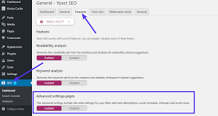 how to enable advanced yoast xml sitemap control