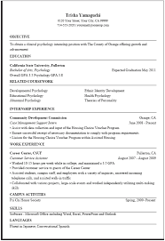 Government Job Resume Template 10 Example Resume Sample For .