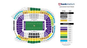 Seating Chart Michigan Football Stadium The Awesome Vikings Seating Chart Seating Chart