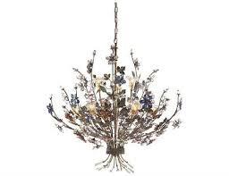 elk lighting brillare bronzed rust colored crystal florets nine light 36 wide