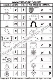These free phonics worksheets may be used independently and without any obligation to make a purchase, though they work well with the excellent phonics dvd and phonics audio cd programs developed by rock 'n learn. Phonics Middle Sounds Free Printable Worksheets Worksheetfun
