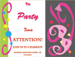 Word Template For Invitation Party Invitation Template Invite Your Friends In Style
