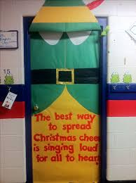 The best way to spread christmas cheer is decorating your door like Buddy  the Elf!