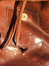 vintage leather bag italy dutch west indian company