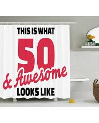 cool shower curtains. Cool Shower Curtain Fifty And Awesome Birthday Print For Bathroom Curtains