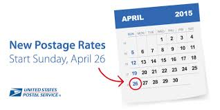 Canada Post Rates 2014 Chart Usps Announces Postage Rate Increase Starts April 26 2015