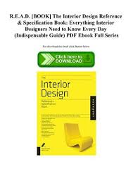 Interior Design Specification Awesome READ [BOOK] The Interior Design Reference Specification Book