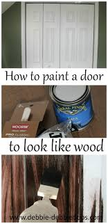Wood Looking Paint How To Paint A Plain White Door To Look Like Wood Debbiedoos