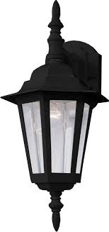 Trans Globe  Bk Amherst Outdoor Wall Sconce Outdoor Sconces - Black exterior light fixtures