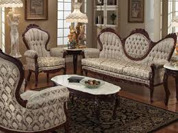 Victorian furniture style sofa and arm chairs