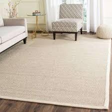 area rug natural fiber marble beige 8 ft x 10 ft area rug