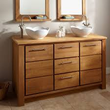 wood bathroom sink cabinets. natural ash wooden bathroom vanity with drawers and white vessel wood sink cabinets t