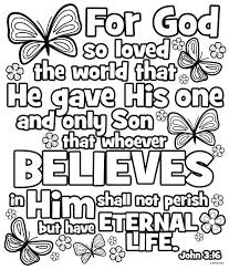 Coloring Pages For John 3 16